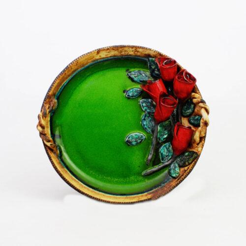 κεραμικη πιατελα πρασινη