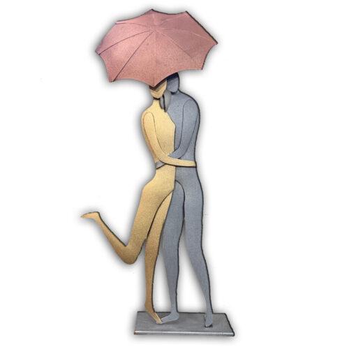 Επιτραπεζιο μεταλλικο διακοσμητικο ζευγαρι με ομπρελα