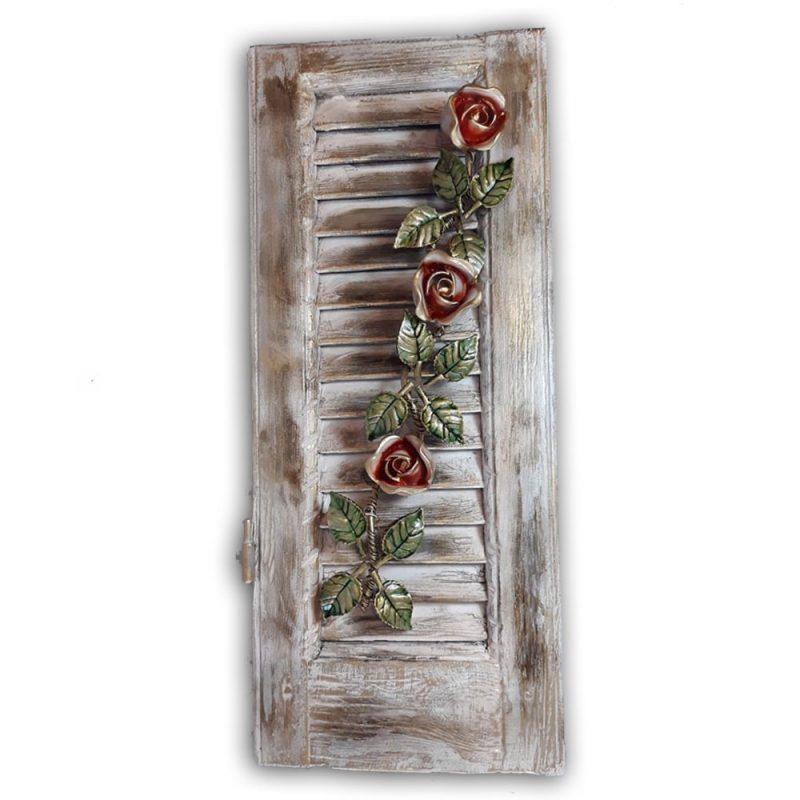 παντζουρι διακοσμητικο με τριανταφυλλα