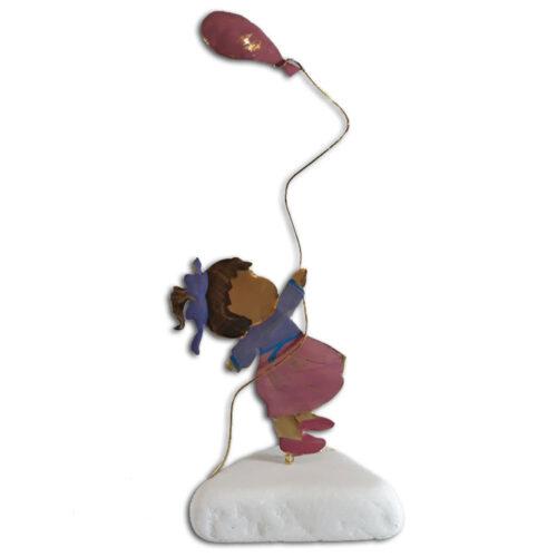 Διακοσμητική φιγούρα κοριτσάκι με μπαλόνι