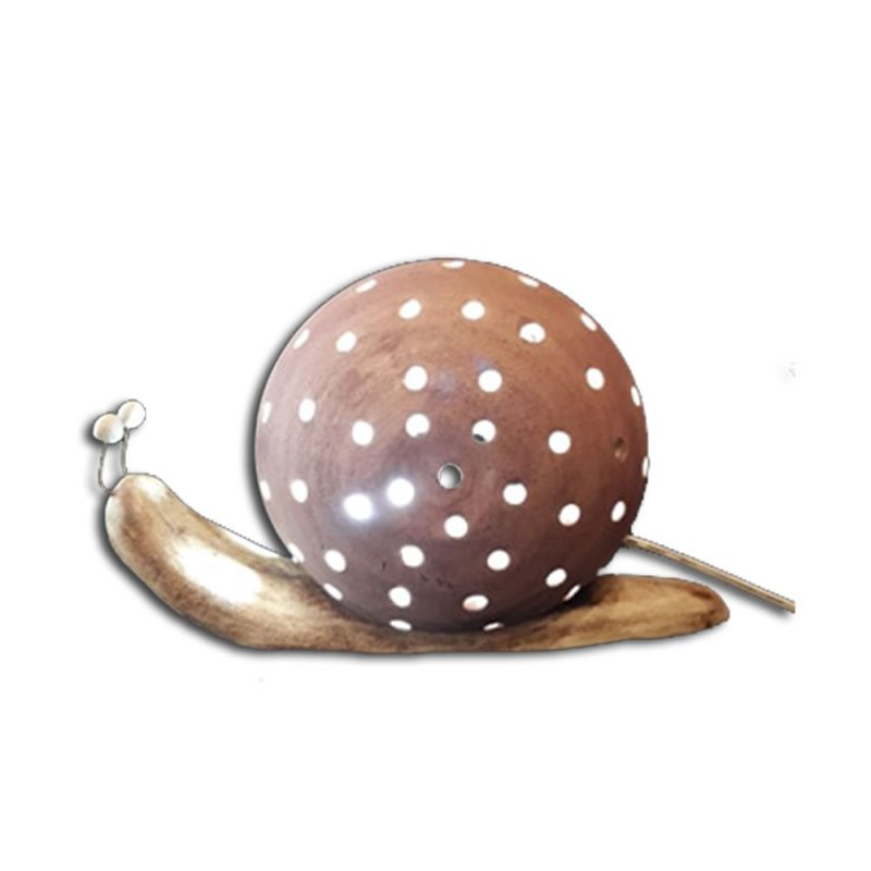 φωτιστικό σαλιγκάρι κεραμικό