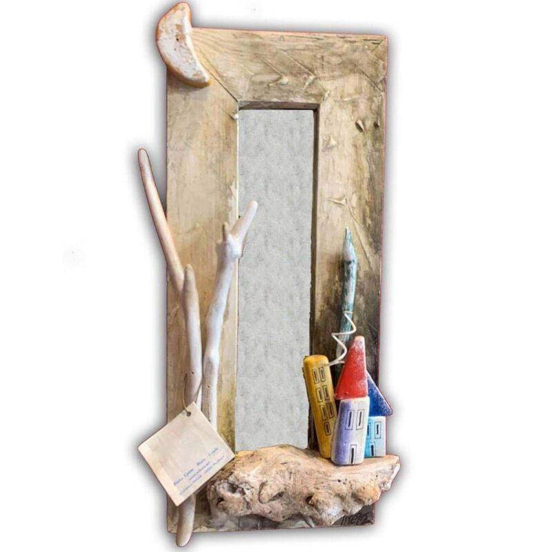χειροποιητος ξυλινος καθρεπτης