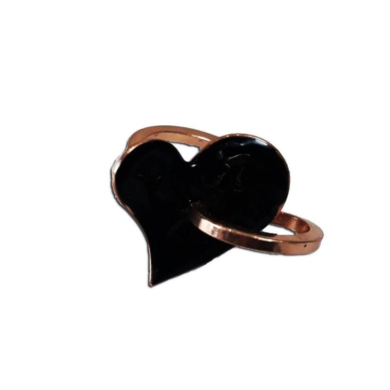 Δαχτυλιδι σε σχημα Καρδιας αυξομειουμενο, χειροποιητο