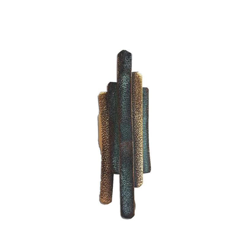 Δαχτυλιδι απο ορειχαλκο με πρασινη οξειδωση,χειροποιητο
