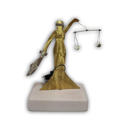 Χειροποιητο Διακοσμητικο Θεμις, η Θεα της Δικαιοσυνης,επιτραπεζιο