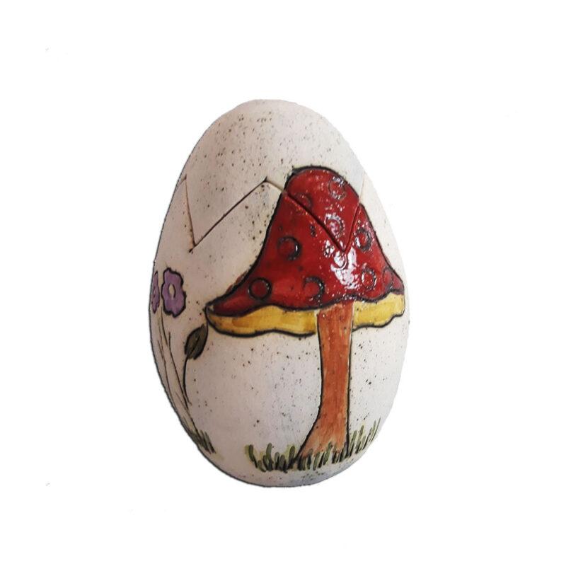 Πασχαλινο Αυγο Φοντανιερα με σχεδιο Μανιταρι Χειροποιητο