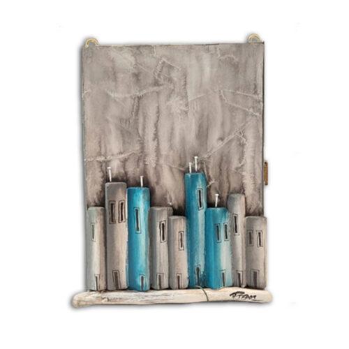 κλειδοθηκη χειροποιητη τοιχου, κλειδοθηκη ξυλινη με σπιτακια