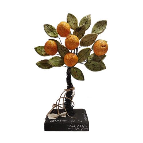 Επιτραπεζια Διακοσμητικη Λεμονια,χειροποιητο δεντρακι λεμονιας