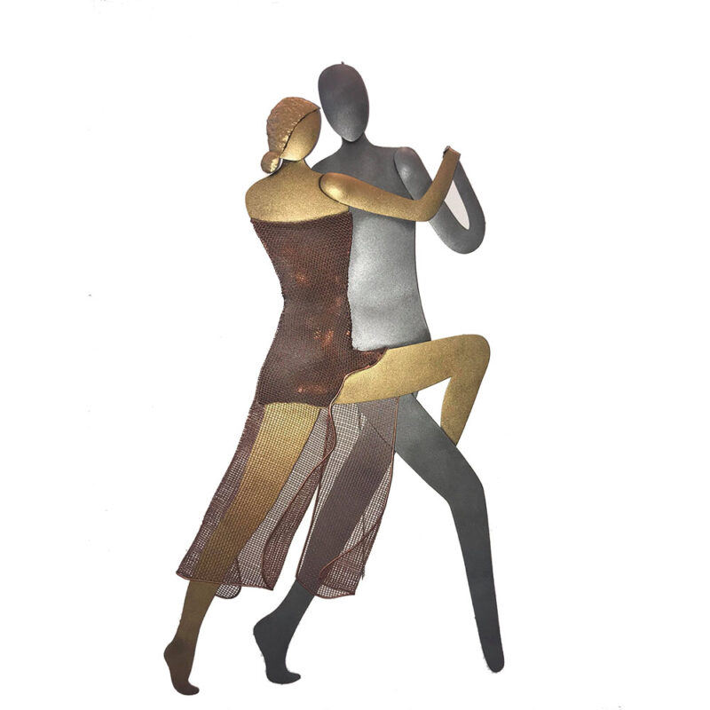 Χειροποίητο μεταλλικό Ζευγάρι Χορευτές, επιτοίχιο