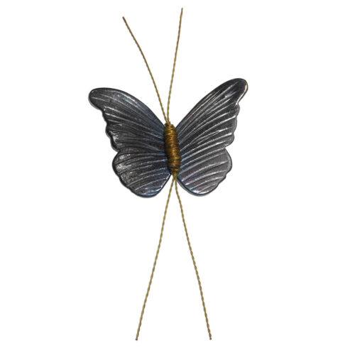 Επιτοιχια Κεραμικη Πεταλουδα σε Γκρι χρωμα
