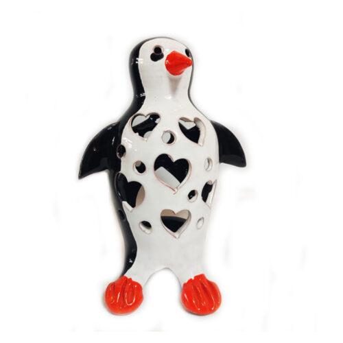 Διακοσμητικο κηροπηγιο πιγκουινος